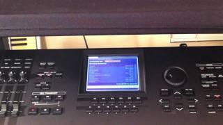 Yamaha Motif XF OS 1.2 Showcase   Wireless Network Connectivity   Part 1 of 3