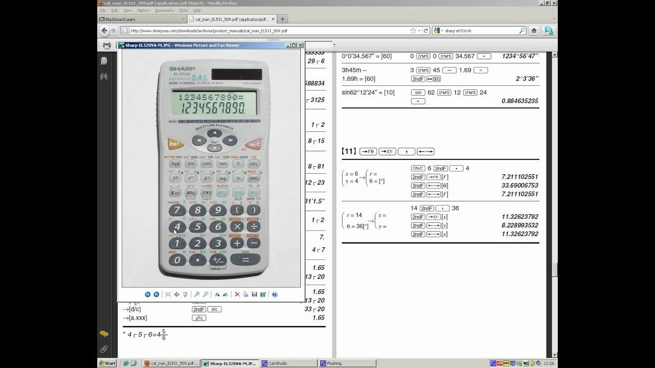 ELEC142 Calculator conversions between rectangular and polar form ...