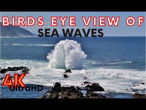 Birds Eye View of Sea Waves