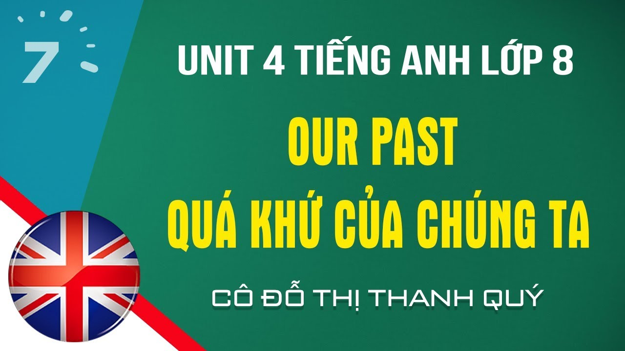 Unit 4Tiếng Anh lớp 8: Our past - Quá khứ của chúng ta |HỌC247