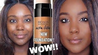 NEW REVLON DRUGSTORE FOUNDATION REVIEW!? REVLON INSTA-FILTER FOUNDATION WEAR TEST Oily/Dark Skin