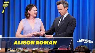 Alison Roman Prepares a Rib Roast While Sipping a Martini