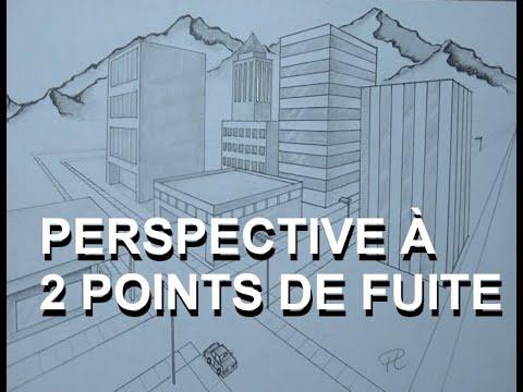1re secondaire dessin 4 la ville en perspective a 2 points de fuite