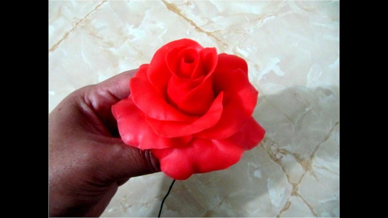 Rosas rojas de porcelana fr a paso a paso youtube - Www como hacer flores com ...