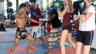 Beginners Group Muay Thai Training
