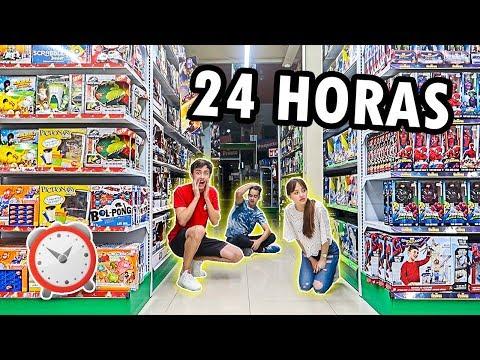 24 HORAS EN UNA JUGUETERIA *NOS SACARON*
