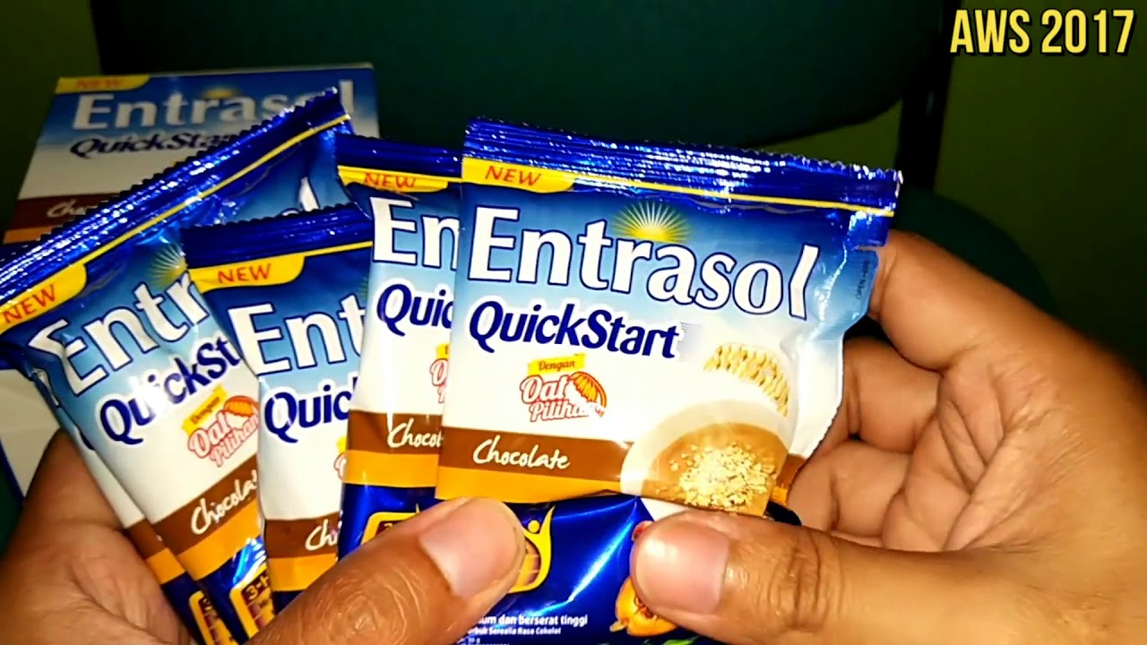 Entrasol Quick Start Minuman Oat Pilihan Rasa Coklat Kaya Akan Energen Oatmilk Mixbry10scx24g Kalsium