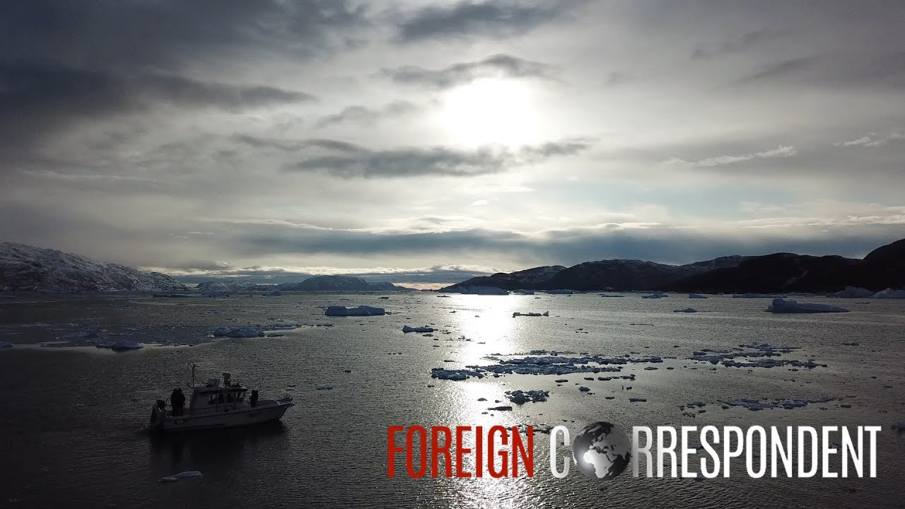 Flying above Greenland - drone footage