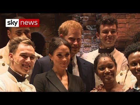 Royals visit the Hamilton musical