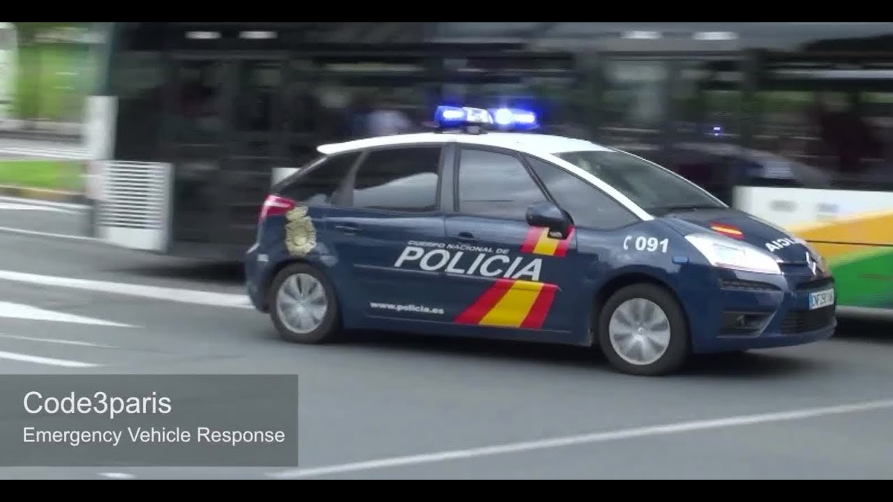 coches de la policia en espagne spanish police cars responding youtube. Black Bedroom Furniture Sets. Home Design Ideas
