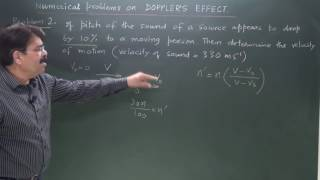 CLASS XI _Doppler effect -3- Numerical problems on Doppler effect