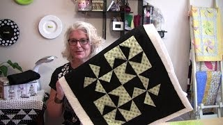 A Two Hour Quick And Easy Dimensional Pinwheel Table Top Quilt