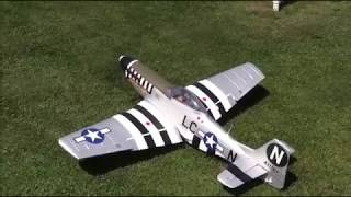 E-flite P-51D Mustang 1.2m First Flight