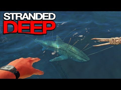Killing A Real Great White Shark!! Stranded Deep Shark Hunting! Stranded Deep Gameplay