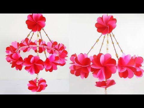 Beautiful Paper Wall Hanging/ Jhumar - त्योहारों के लिए पेपर से आसान झूमर, वाल हैंगिंग बनाना सीखे