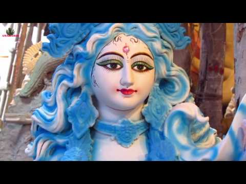 SARASWATI PUJA KOLKATA, INDIA 2017 || PRATIMA AT KUMORTULI PART 13