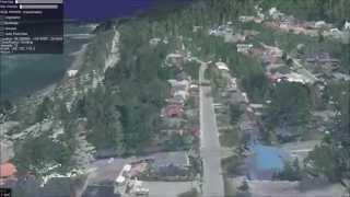 Juneau, AK LiDAR visualization in osgEarth