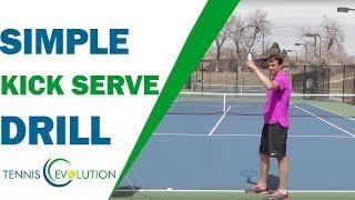 Simple Kick Serve Drill (FOLLOW ALONG!) | TENNIS SERVE