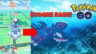 WORLD'S FIRST KYOGRE RAID IN POKEMON GO! KYOGRE RAID LIVE STREAM!