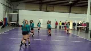 Dune's Volleyball Classic 2014 - 14u Open - 1st round of playoff (pt 6)