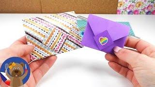Jak složit obálku Origami DIY / Jak si složit jednoduše barevný dopis Tutorial | česky