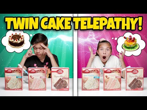 TWIN TELEPATHY CAKE CHALLENGE!!! Brother VS. Sister Bake Off!