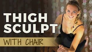 Yoga Sculpt 5/6: Thigh Workout for Women | Sculpting Exercise for your Thighs & Legs
