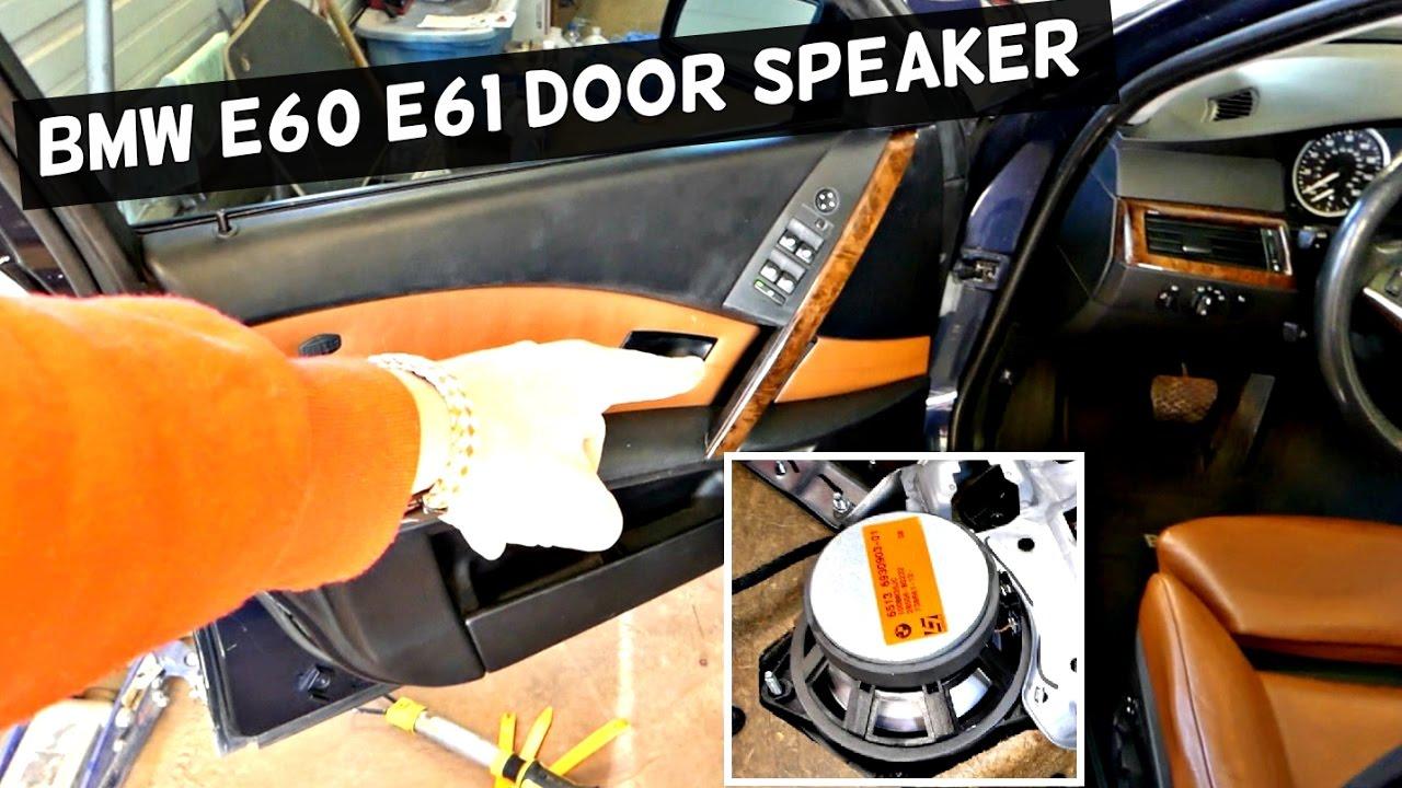Front Door Replacement >> BMW E60 E61 FRONT DOOR SPEAKER REPLACEMENT REMOVAL 525i 528i 530i 535i 540i 550i 520d 525d 530d ...