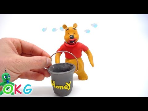 Bear Winnie-the-Pooh Surprise Box Opening Play Doh Stop Motion Cartoon Videos