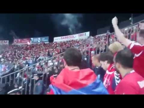 Albania-Armenia 2-1 turkey flag 2015