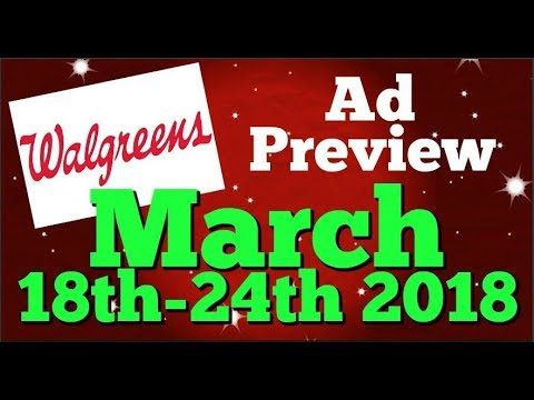 Walgreens Ad Preview Chit Chat March 18th-24th 2018