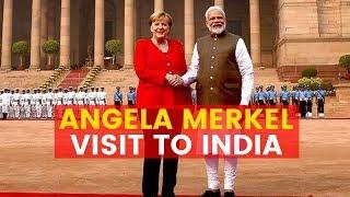 Angela Merkel Visit to India: Angela Merkel arrives in Delhi, to hold talks with PM Modi