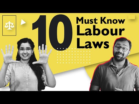 Top 10 labour laws in India for Employees Ft.@Labour Law Advisor