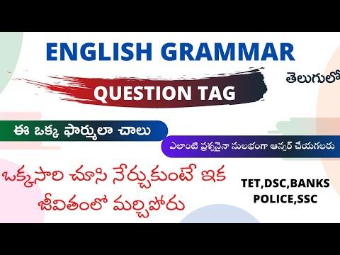 English Grammar With Telugu Explanation Pdf