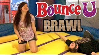FAT MAN WRESTLES WIFE IN BOUNCY HOUSE! EMBARRASSING FOOTAGE SHE DOESNT WANT YOU TO SEE!
