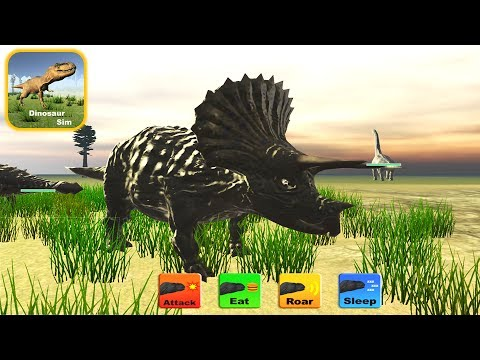 Dinosaur Sim - Dino Game With 20 Dinosaur Types: Triceratops - IOS Gameplay