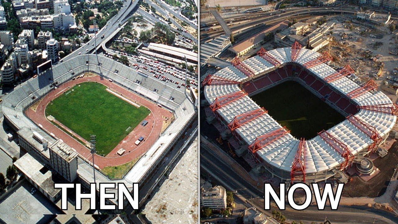 Greece Superleague Stadiums Then Now
