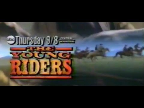 """1989 ad for """"YOUNG RIDERS"""" TV drama about the PONY EXPRESS"""