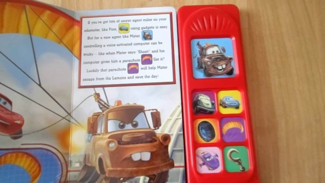 Mater Saves The Day Playasound Dixney Pixar Cars Play A - Cars 2 cool cars book