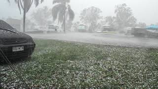 Afternoon storm hail, , Gympie,Queensland,Thursday, 11th October, 2018