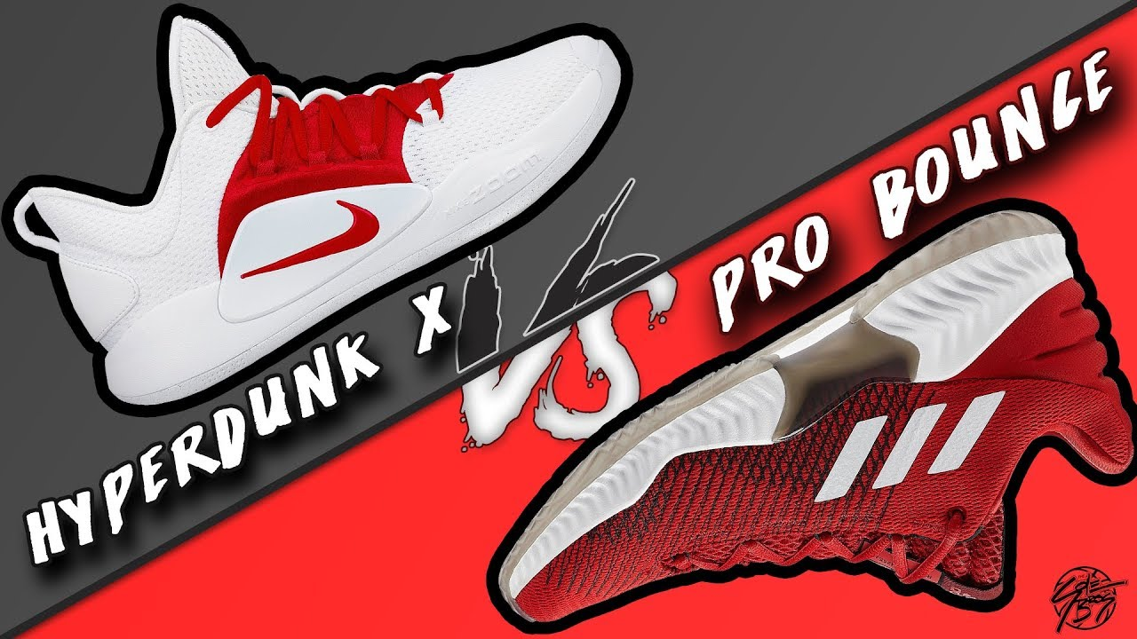 Nike Hyperdunk X vs Adidas Pro Bounce