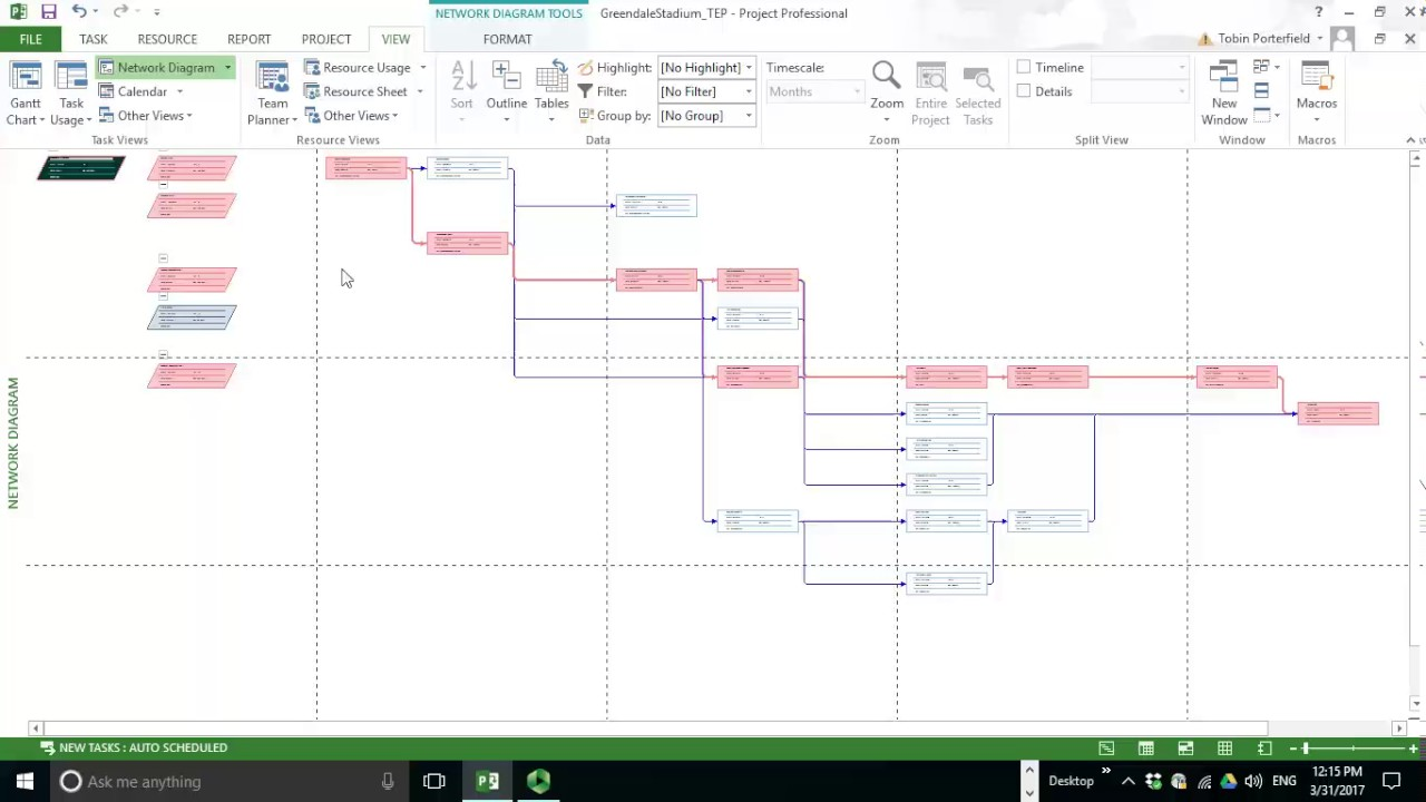 network diagram and critical path main panel to sub wiring ms project 2013 youtube
