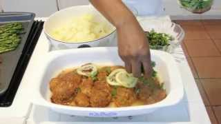 Herbal Fried Chicken with Buttermilk Mashed Potatoes and Roasted Vegetables (Episode 6)