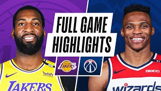 LAKERS at WIZARDS | FULL GAME HIGHLIGHTS | April 28, 2021