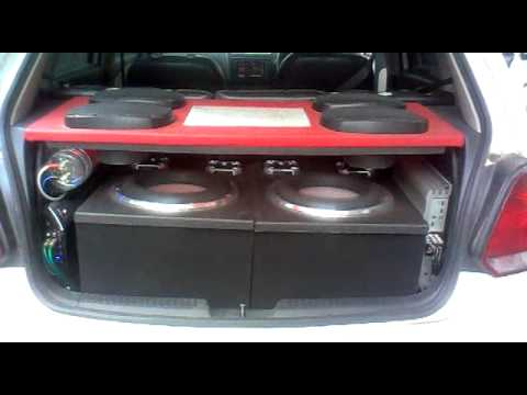 subwoofer test heavy bass system in vw polo by db youtube. Black Bedroom Furniture Sets. Home Design Ideas