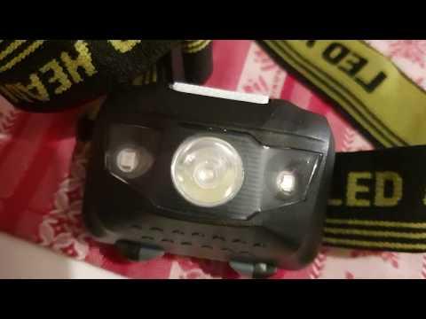 Mini Led Headlamp Flashlight AAA Battery Frontal Head Light Torch Lamp Hunting