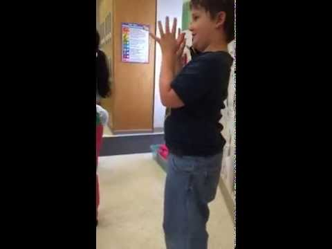 Jack doing the Chicken Dance At Big Valley Christian School