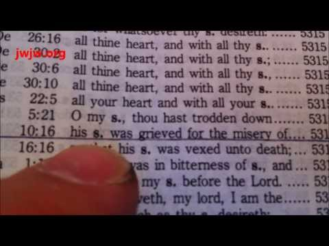 How to look things up in the Bible using the Strong's Concordance