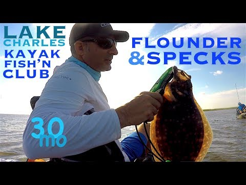 Trout & Flounder - kayak fishing Calcasieu Lake - Lake Charles Kayak Club