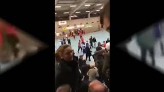 Big fight at indoor football match Futsal Cup in Nidda Germany 24 01 2020